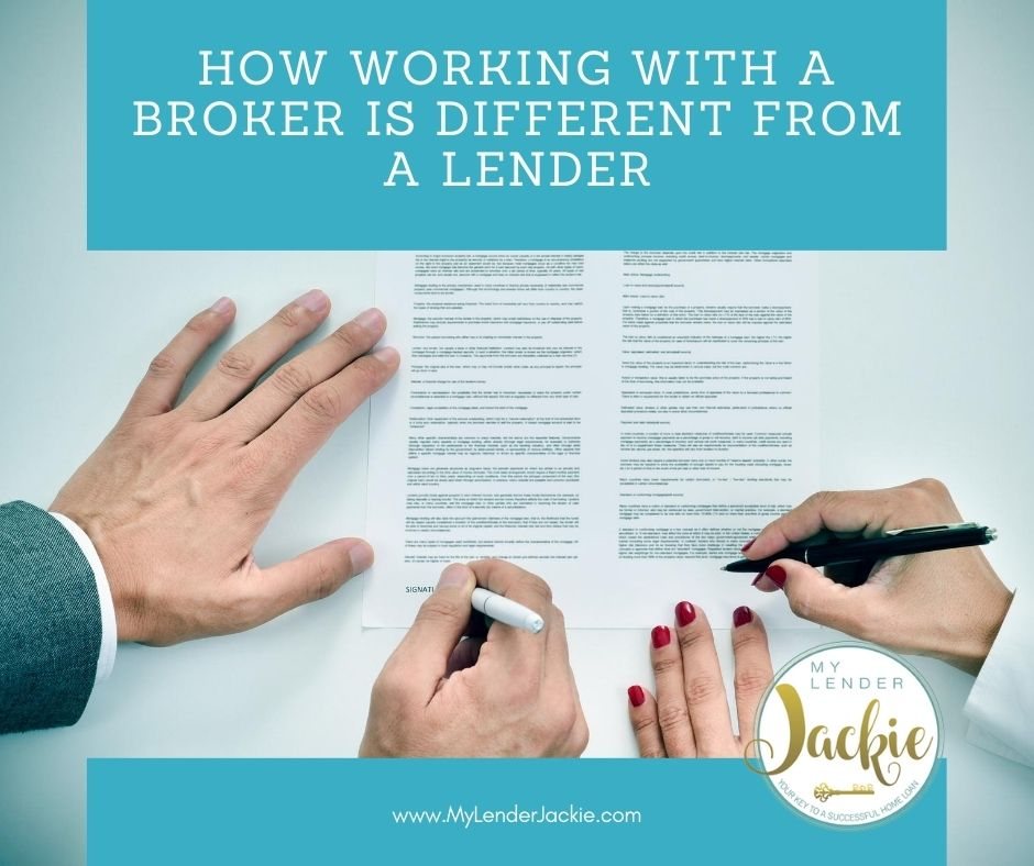 How Working with a Broker is Different from a Lender